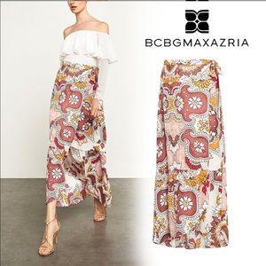 BCBGMaxAzria Floral Maxi Wrap Skirt